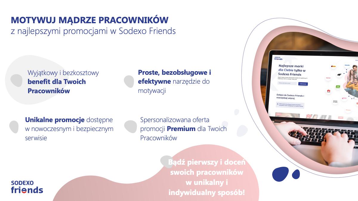 Sodexo Friends - bezkosztowy benefit dla pracowników